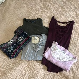 5 size extra small tops